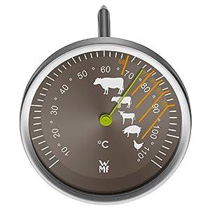 WMF Scala Grill-/ Fleischthermometer, mit Markierung Garpunkte, für Steak Rind Kalb Lamm Schwein und Geflügel, Sonde bis 110°C