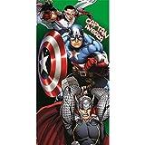 Kinder - Handtuch/Saunatuch/Strandtuch/Duschtuch/Badetuch - 70 x 140 cm - Baumwolle - Motiv: Captain America aus Avengers - tolles Geschenk für Jungen