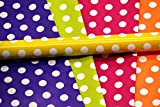 #1: Satyam kraft (Pack of 10) 28 inch x 19 inch Gift Wrapping polka dot mix color Paper WITH FREE 10 GIFT Tags, Envelope Making,Card Making, Scrapbooking and Multipurpose Creative Uses for BIRTHDAY, ANNIVERSARY, WEDDING, CHRISTMAS, FRIENDSHIP DAY, VALENTINE DAY, MOTHER'S DAY, RAKSHABANDHAN, SISTER AND YOUR LOVED ONES