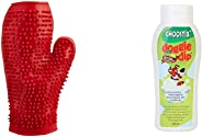 Choostix Dog Bath Glove and Tick and Flea shampoo, 200 ml