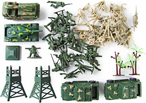 Spielzeug-Figuren Soldaten Set Militär Action Kunststoff (Militär Figuren)