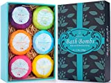 PURENJOY Bath Bombs Gift Set, 6pcs Fizzies Spa Kit Perfect for Moisturizing Skin, Birthday Valentines Mothers Day Anniversary Christmas Best Gifts Ideas for Women, Wife, Girlfriend, Mom, Her