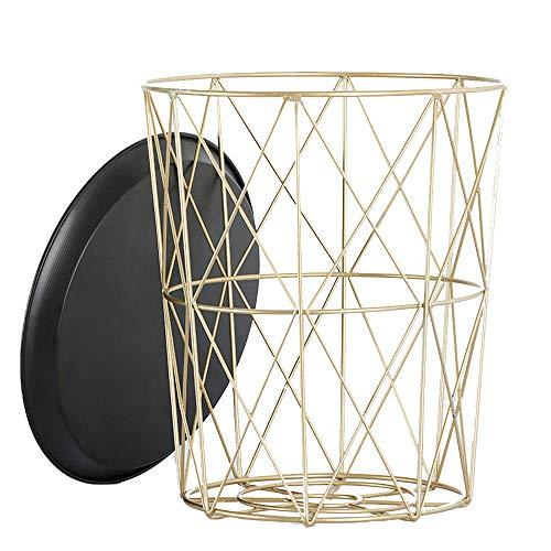LILUN6 Runder Beistelltisch, Couchtisch, runder Couchtisch für das kleine Wohnzimmer, industrieller Couchtisch, Nachttisch, Möbel mit Metallgestell. -