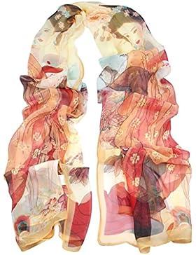 Crepé Retro de seguridad para anclaje en Veroda en la playa envoltorio pañuelo de seda bufandas chal para