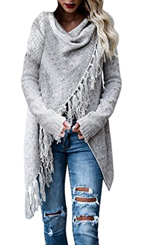 AIYUE Mantel Damen Poncho Cape mit Rollkragen Pullover unregelmäßig Stricken Pullover Sweater Top Winter Strickpullover Gestrickt Umhang