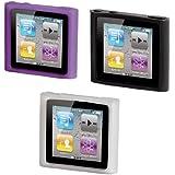 Hama Sport Case MP3-Taschen-Set für Apple iPod nano 6G transparent/schwarz/lila