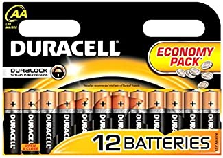 Duracell Batteries Aa/Battery Pack of 12 Simply Lr6/Mn1500 Economy for Radios, Remotes, Clocks Etc