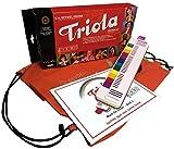 TRIOLA 12 Kompakt-Set mit Tasche für Instrument und Noten: die beliebte Blasharmonika mit farbigen Tasten für Kinder im Set mit dem Triola-Liederbuch MUSIK FÜR KINDER - BAND 1