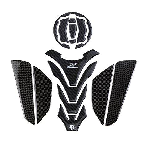 KODASKIN Motorrad Echtes Carbon Tank Pad Aufkleber Emblem GRIPPER STOMP GRIFFE EASY für KAWASAKI Z900 Z650 NINJA 650 2017-