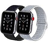 ATUP Kompatibel mit für Apple Watch Armband 38mm 40mm 42mm 44mm, Leichtes Atmungsaktives Nylon...