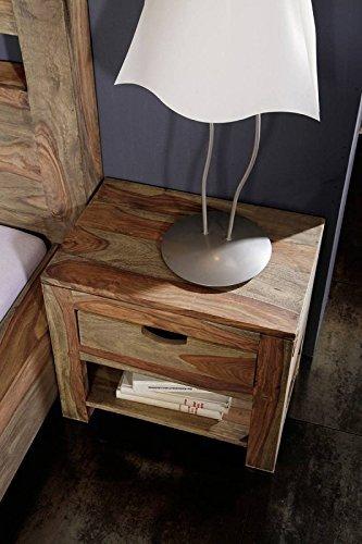 palissandro legno massello Comodino Da Notte SHEESHAM LEGNO...
