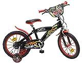 Kinderfahrrad Speed schwarz/rot 12, 14, 16 Zoll - Stützräder (16 Zoll)