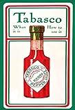 Tabasco sauce was ist es und wie mann es benutzt schild aus blech, metal sign, tin