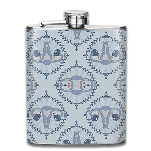 Zcfhike Drink Liquor Hip Flask Love Uterus Stoup Rum Container Flask Pocket for Adults