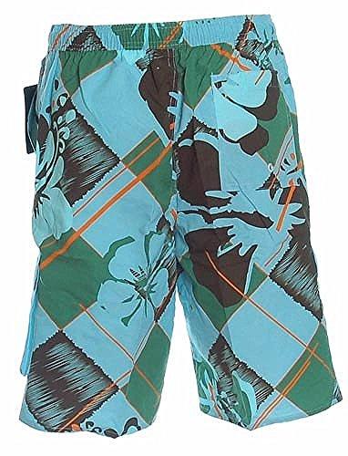 Shiwi Herren Badeshorts Shorts Badehose Boardshorts gemustert Blau