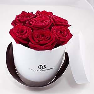 bella victoria frische rosen in der box moderne rosenbox blumenbox flowerbox geschenkbox s. Black Bedroom Furniture Sets. Home Design Ideas