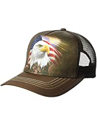 The Mountain Unisex-Adults Independence Eagle Trucker Hat, Brown, One Size fits All