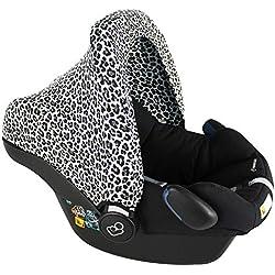 Capote luxueux Bébé Confort Citi (SPS), Cabriofix, Pebble (Plus), Rock ♥ Blanc Vert Léopard ♥ OEKO-TEX Coton