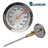 In acciaio inox 500 C gradi Termometro cono FORNO PIZZA FORNO IN LEGNO LEGNO FORNO GRILL