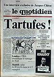 quotidien de paris le no 1265 du 19 12 1983 jacques chirac l avocat roland dumas chez talbot les partielles du dimanche cahors et auray londres l ira revendique le carnage de noel madrid 80 morts dans le 5 7 espangol