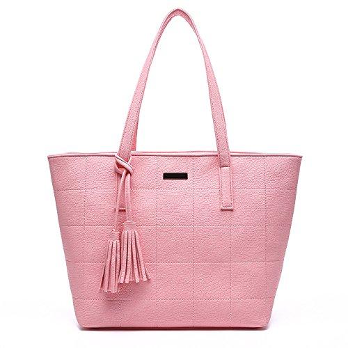 Mefly La Nuova Moda Donna Borsetta 2017 Singola Semplice Borsa A Tracolla Rosa Pink