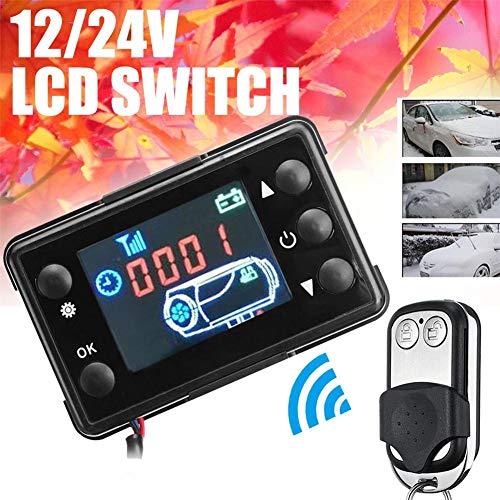 Lâ Vestmon 12V / 24V Auto GM Klimaanlage thermostatische Standheizung LCD Display Schalter mit Fernbedienung -