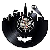 Weinlese-Vinyl Clock Batman Theme Ungewöhnliche Weihnachtsgeschenk