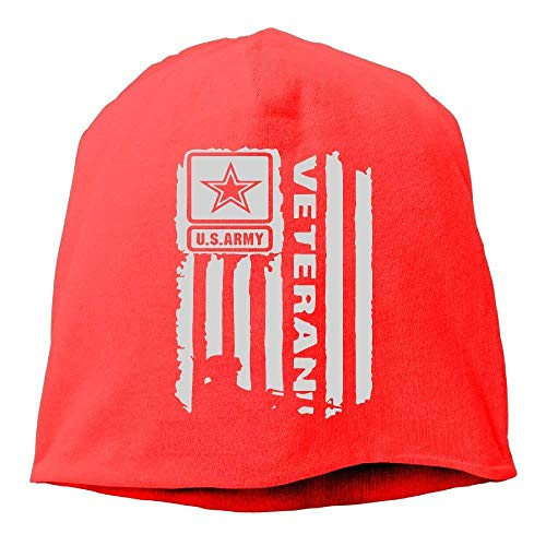 Adult US Army Veteran Flag Hip-Hop Beanie Hat Skull Cap