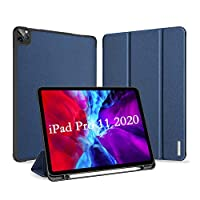 A-BEAUTY Smart Case for iPad Pro 11 2020 [Support Apple Pencil Charging] Lightweight Stand Cover with Auto Sleep/Wake for Apple iPad Pro 11 Inch 2020 Release - Blue