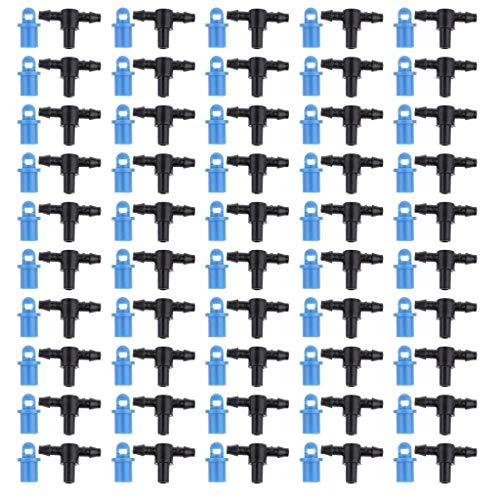 Garden Sprinklers - Set Of 50 Sprayer Sprinkler Heads With Tee Kits Irrigation Misting Watering Garden - Brass Underground Decorative Large Irrigation Rainbird Timer Valve Tripod Sprinklers -