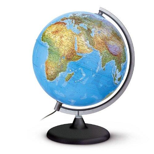 Doppelbild Leuchtglobus - Durchmesser = 30cm Beleuchteter Globus=politisches Kartenbild Unbeleuchteter Globus = physisches Kartenbild