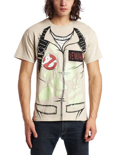 Ghostbusters Venkman Costume Glow In The Dark Khaki T-Shirt | - Ghostbusters Venkman Kostüm