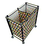 #10: Kuber Industries™ This and That Basket Duo, Space Saving and Portable - Laundry Basket with Wheels, Size: 68x64x34 cm - KI3420