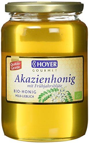 Hoyer Bio Akazienhonig mit Fühjahrsblüte, 1er Pack (1 x 1 kg) - Bio-klaren Honig