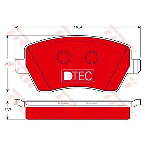 Trw GDB3332DTE Kit Pastiglie, Freno a Disco