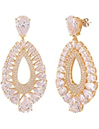 SHAZE Gold-Colored Crunchy Earring For Womens |Earrings For Women|Earrings For Women Stylish