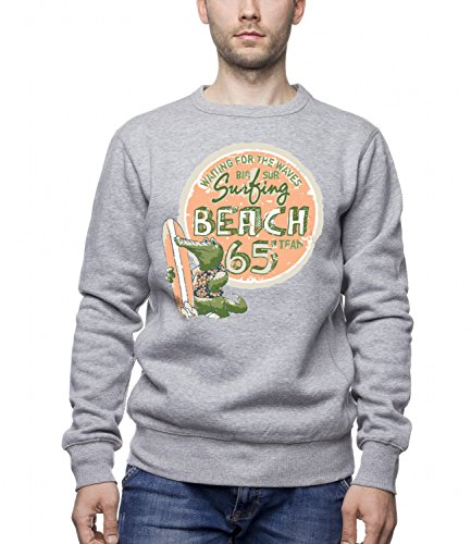 three-monkeys-crocodile-surfing-animals-collection-mens-unisex-sweatshirt-grey-medium