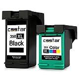 CSSTAR Remanufacturado Cartucho de Tinta Reemplazo para HP 350 351 XL para Photosmart C4280 C4380 C4480 C4580 C5280 C4472 C4270 C5180 C6280 OfficeJet J5780 J5730 J6410 DeskJet D4260 Stampante - Negro, Color