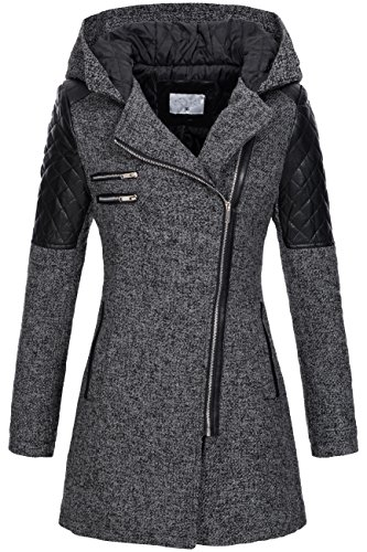Peak Time v-1507 da donna between-season Giacca Black 44