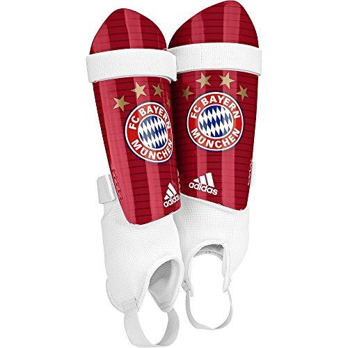 adidas FC Bayern Chrome Schienbeinschoner, Fcb True Red/White, S (Adidas Sportliche Wrap)