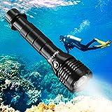 BlueFire Unterwasser Taschenlampe, 2000 Lumen XHP-50 LED Tauchlampe mit 2*26650 Batterien und ladegerät, Professionelle Super Hell Tauchen Taschenlampe, Unterwasser 150m Sicherheit Unterwasser Lampe