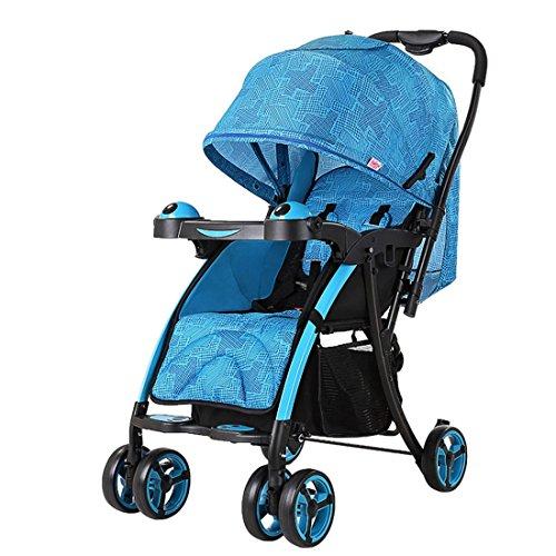 Qianle Baby Pram Pushchair Buggy Stroller Carry Easily Adjustable Seats Blue