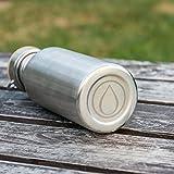 Pure Design – 750 ml Edelstahl Trinkflasche in Geschenk Verpackung - 6