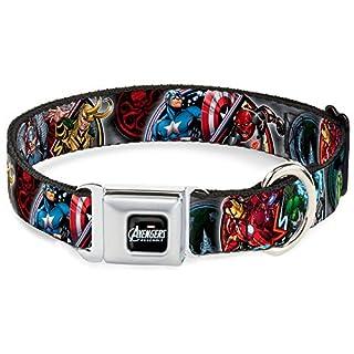 Buckle Down DC-WAV036-M AVD Marvel AVENGERS Dog Collar, Medium/11-17