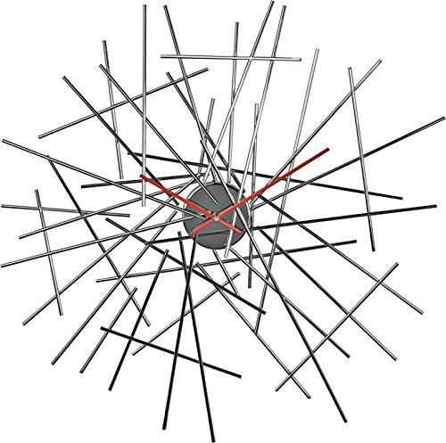Alessi FC16 Blow up - Reloj de pared de acero cromado
