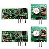 com-four® XY-MK-5V / XY-FST 433 MHz Funk - Sende und Empfänger Modul Set für Raspberry und Arduino Wireless Transmitter Receiver (02 Stück)
