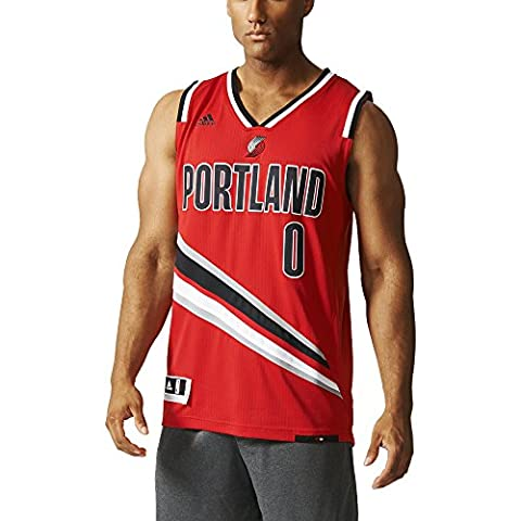 adidas Mens Trail Portland Blazers NBA Swingman Jersey Multi-Coloured Red