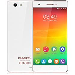 OUKITEL C4 Smartphone 4G LTE Android 6.0 Marshmallow ( MTK6737 Quad Core 64-bit 1.3GHz 1GB RAM+8GB ROM, 5'' HD 1280 * 720 Pixels Screen, 5MP+8MP Dual Camaras Ultra-thin OTA )