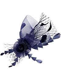 Joyas Ant Symphony pelo boda joyas Red Muelle flor azul oscuro azul marino