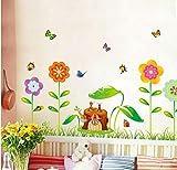 ZBYLL Wall Sticker Gang Balkon Wohnzimmer Hintergrund Home Improvement Möbel Sockelleisten Big Tree
